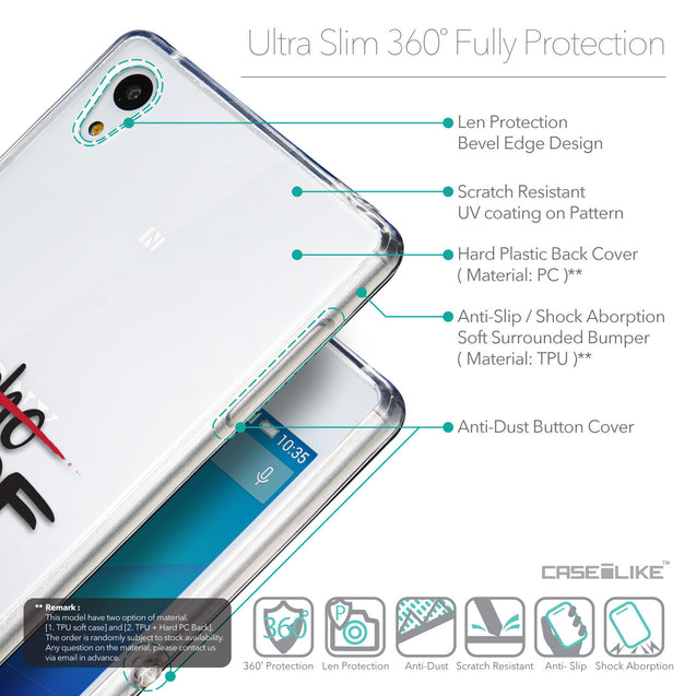 Details in English - CASEiLIKE Sony Xperia Z3 Plus back cover Quote 2405