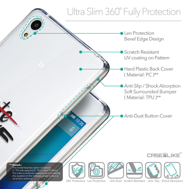 Details in English - CASEiLIKE Sony Xperia Z3 Plus back cover Quote 2406