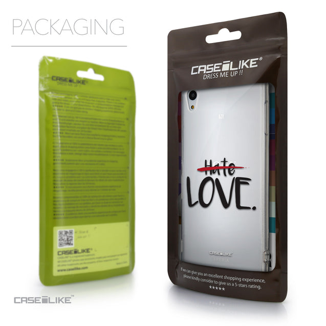 Packaging - CASEiLIKE Sony Xperia Z3 Plus back cover Quote 2406