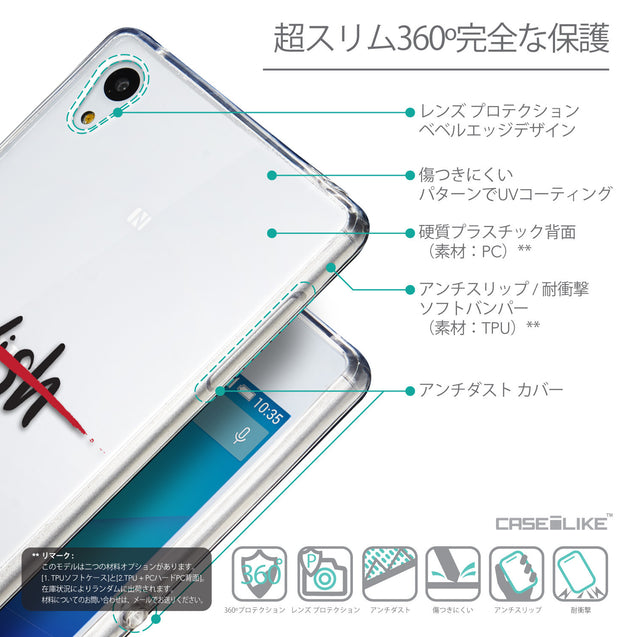 Details in Japanese - CASEiLIKE Sony Xperia Z3 Plus back cover Quote 2407