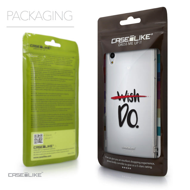 Packaging - CASEiLIKE Sony Xperia Z3 Plus back cover Quote 2407