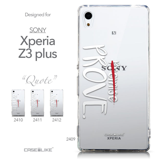Collection - CASEiLIKE Sony Xperia Z3 Plus back cover Quote 2409