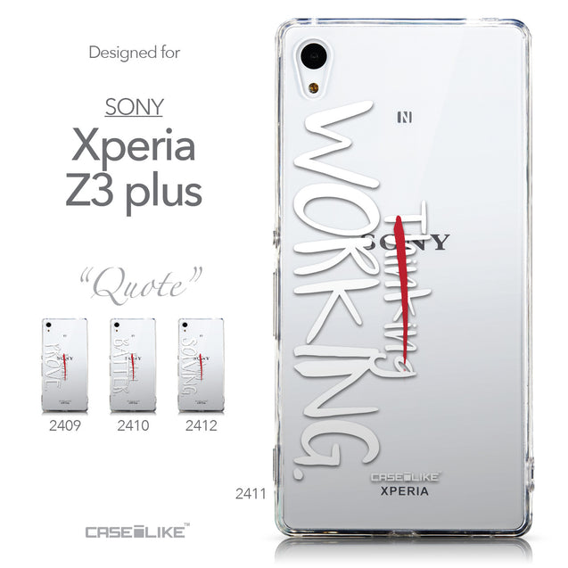 Collection - CASEiLIKE Sony Xperia Z3 Plus back cover Quote 2411