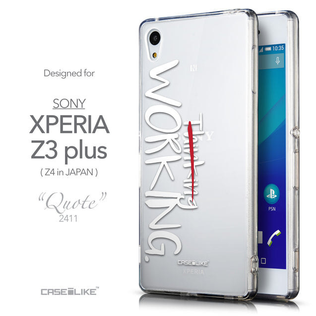 Front & Side View - CASEiLIKE Sony Xperia Z3 Plus back cover Quote 2411