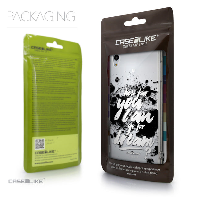 Packaging - CASEiLIKE Sony Xperia Z3 Plus back cover Quote 2413