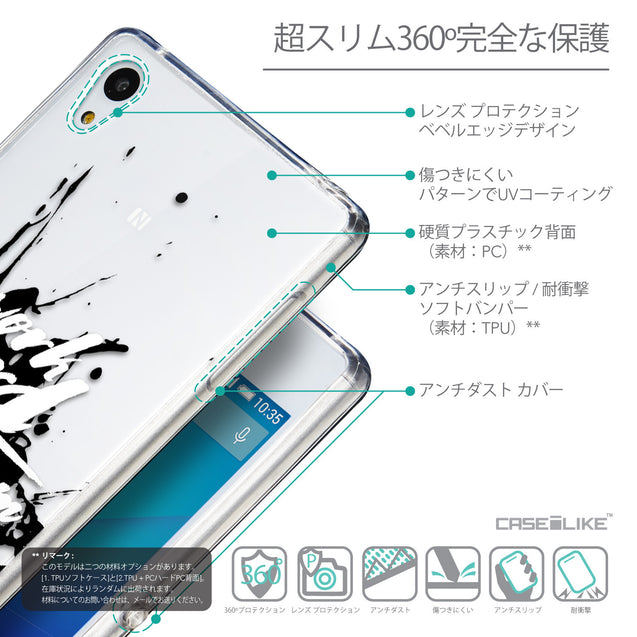 Details in Japanese - CASEiLIKE Sony Xperia Z3 Plus back cover Quote 2414