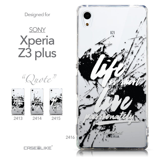 Collection - CASEiLIKE Sony Xperia Z3 Plus back cover Quote 2416