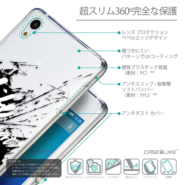 Details in Japanese - CASEiLIKE Sony Xperia Z3 Plus back cover Quote 2416