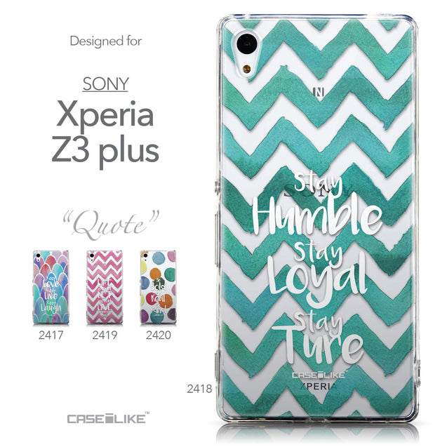 Collection - CASEiLIKE Sony Xperia Z3 Plus back cover Quote 2418