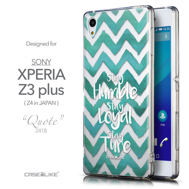 Front & Side View - CASEiLIKE Sony Xperia Z3 Plus back cover Quote 2418