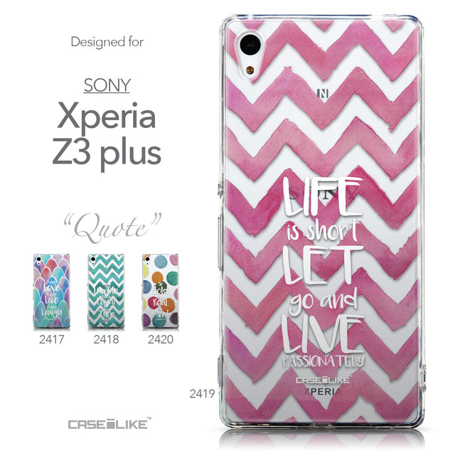 Collection - CASEiLIKE Sony Xperia Z3 Plus back cover Quote 2419