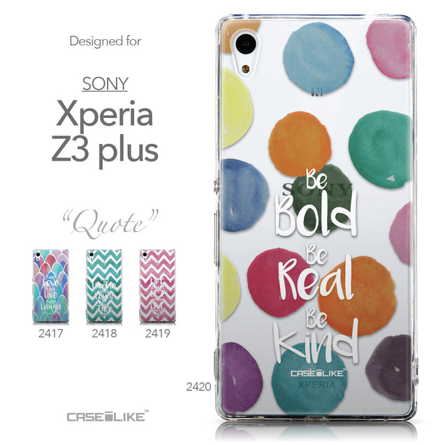 Collection - CASEiLIKE Sony Xperia Z3 Plus back cover Quote 2420