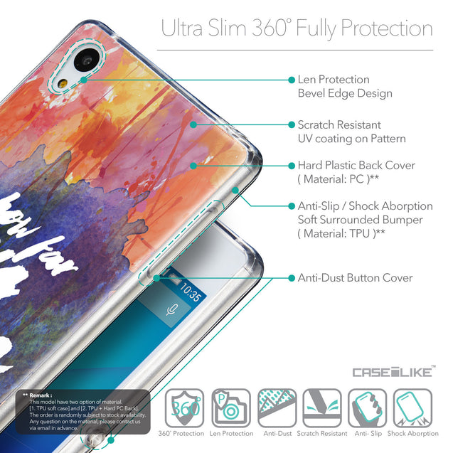 Details in English - CASEiLIKE Sony Xperia Z3 Plus back cover Quote 2421