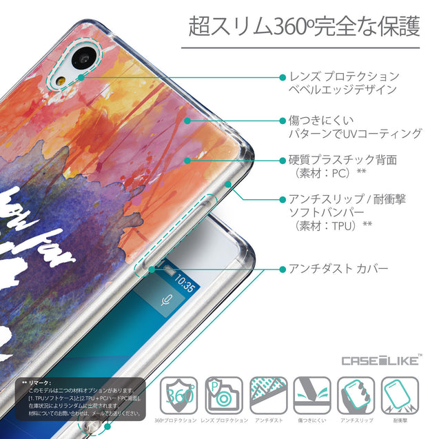Details in Japanese - CASEiLIKE Sony Xperia Z3 Plus back cover Quote 2421