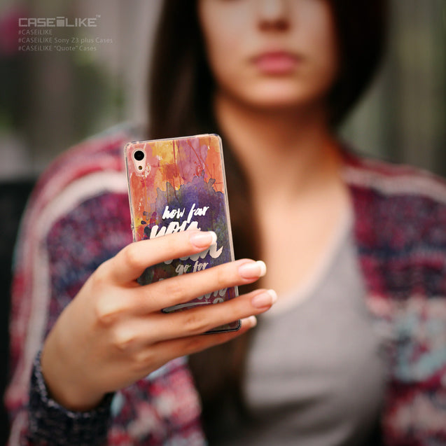 Share - CASEiLIKE Sony Xperia Z3 Plus back cover Quote 2421