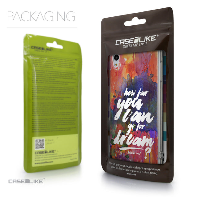 Packaging - CASEiLIKE Sony Xperia Z3 Plus back cover Quote 2421