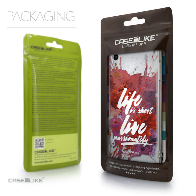 Packaging - CASEiLIKE Sony Xperia Z3 Plus back cover Quote 2423