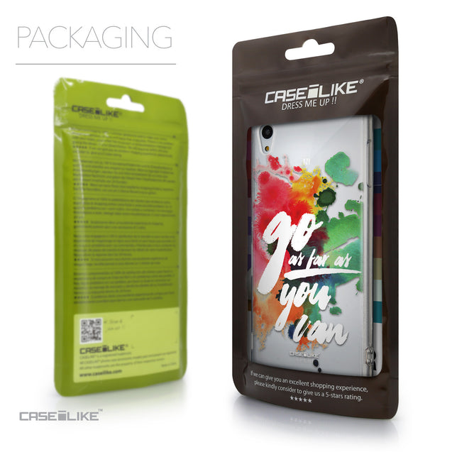 Packaging - CASEiLIKE Sony Xperia Z3 Plus back cover Quote 2424