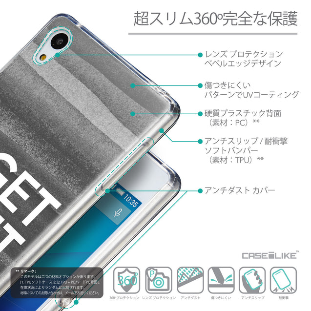 Details in Japanese - CASEiLIKE Sony Xperia Z3 Plus back cover Quote 2429