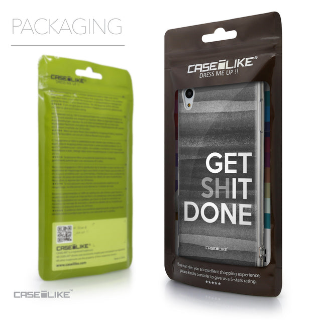 Packaging - CASEiLIKE Sony Xperia Z3 Plus back cover Quote 2429