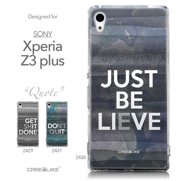 Collection - CASEiLIKE Sony Xperia Z3 Plus back cover Quote 2430