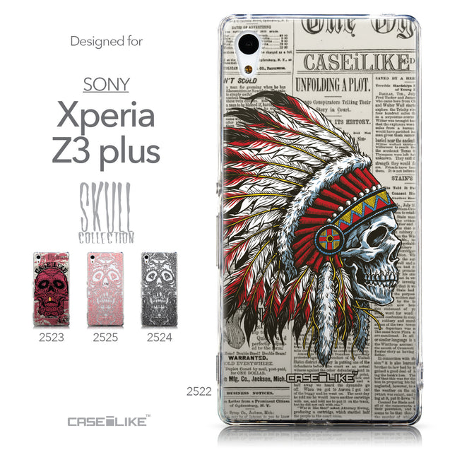 Collection - CASEiLIKE Sony Xperia Z3 Plus back cover Art of Skull 2522