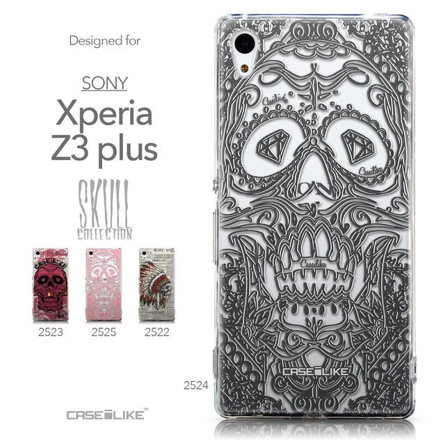 Collection - CASEiLIKE Sony Xperia Z3 Plus back cover Art of Skull 2524