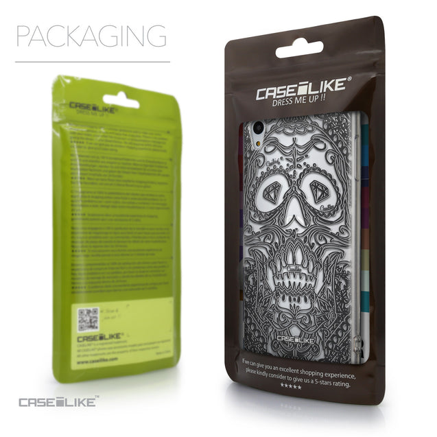 Packaging - CASEiLIKE Sony Xperia Z3 Plus back cover Art of Skull 2524