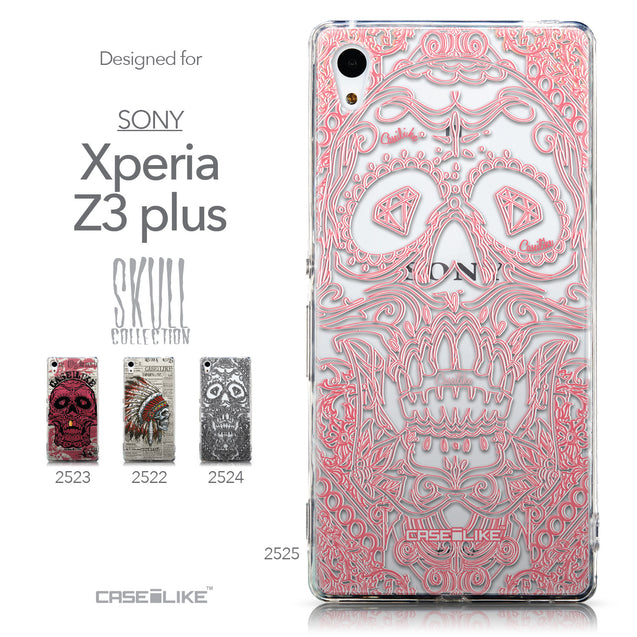 Collection - CASEiLIKE Sony Xperia Z3 Plus back cover Art of Skull 2525