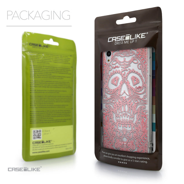 Packaging - CASEiLIKE Sony Xperia Z3 Plus back cover Art of Skull 2525