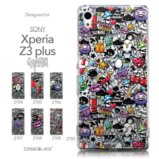 Collection - CASEiLIKE Sony Xperia Z3 Plus back cover Graffiti 2703