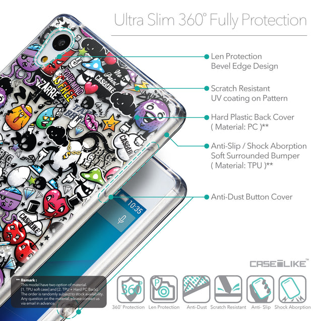 Details in English - CASEiLIKE Sony Xperia Z3 Plus back cover Graffiti 2703