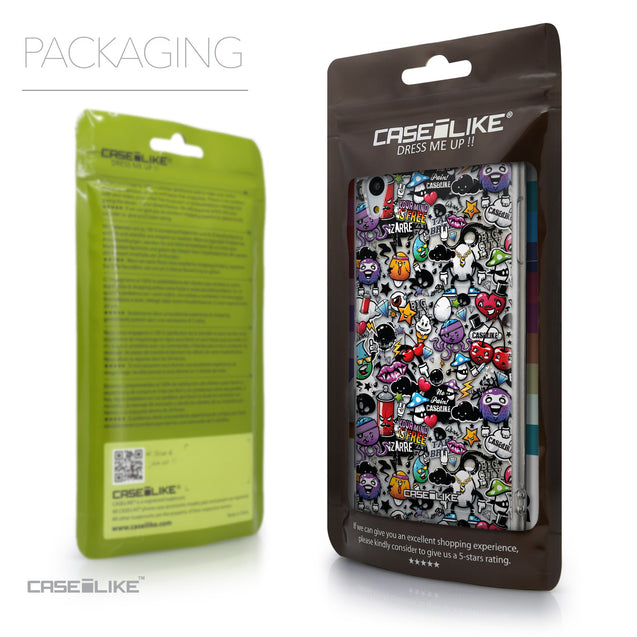 Packaging - CASEiLIKE Sony Xperia Z3 Plus back cover Graffiti 2703