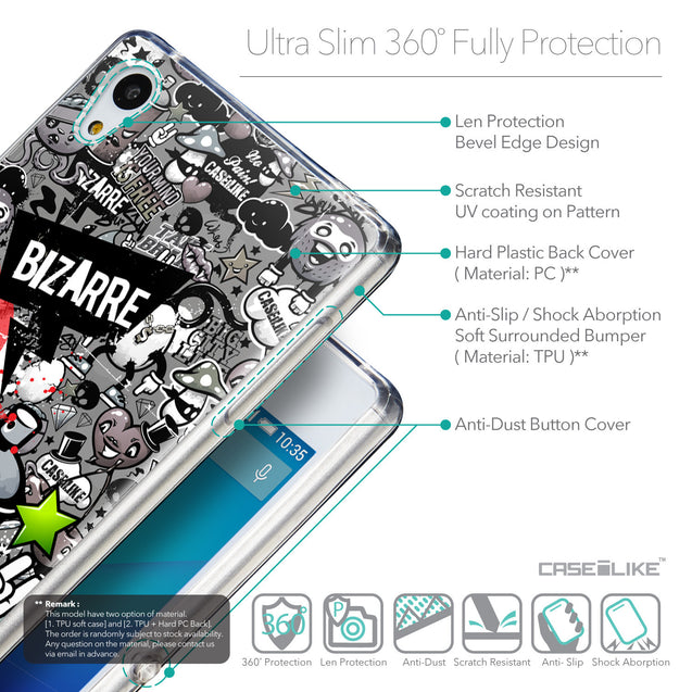 Details in English - CASEiLIKE Sony Xperia Z3 Plus back cover Graffiti 2705