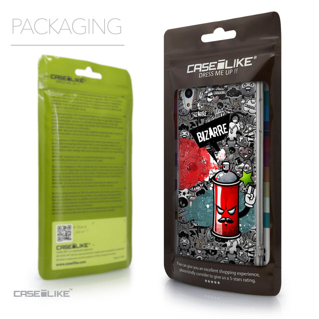 Packaging - CASEiLIKE Sony Xperia Z3 Plus back cover Graffiti 2705