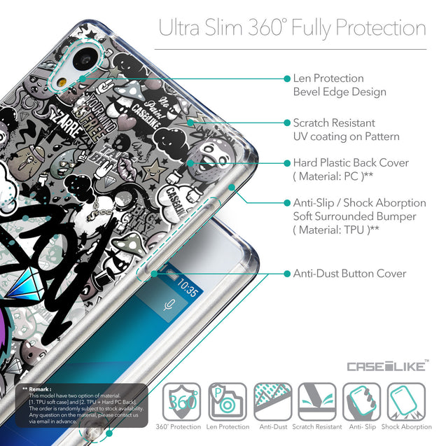 Details in English - CASEiLIKE Sony Xperia Z3 Plus back cover Graffiti 2706