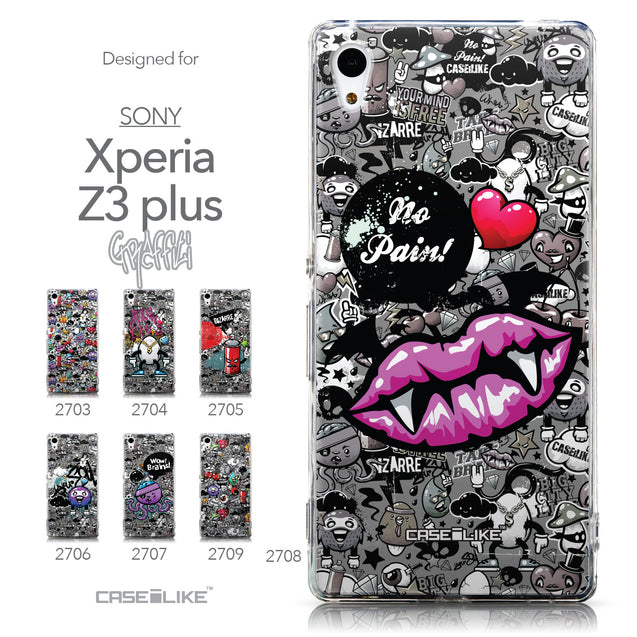 Collection - CASEiLIKE Sony Xperia Z3 Plus back cover Graffiti 2708