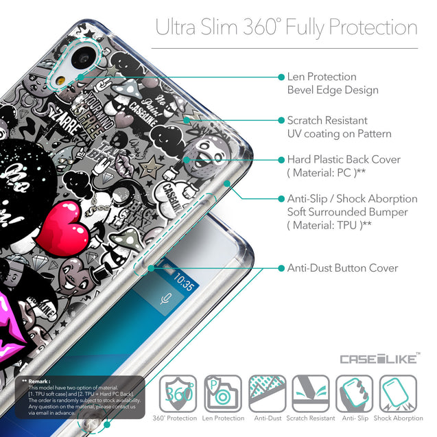 Details in English - CASEiLIKE Sony Xperia Z3 Plus back cover Graffiti 2708