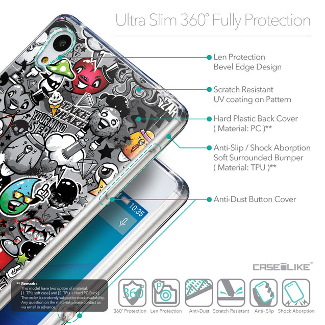 Details in English - CASEiLIKE Sony Xperia Z3 Plus back cover Graffiti 2709