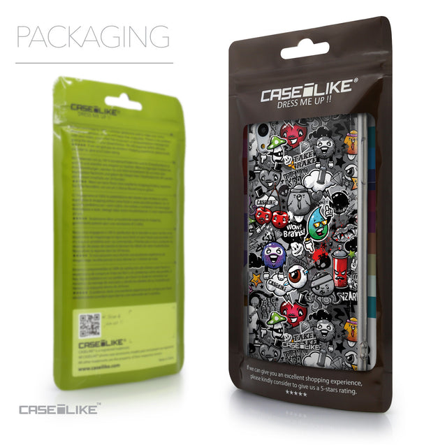 Packaging - CASEiLIKE Sony Xperia Z3 Plus back cover Graffiti 2709
