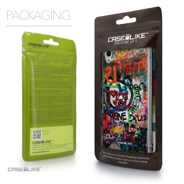 Packaging - CASEiLIKE Sony Xperia Z3 Plus back cover Graffiti 2721
