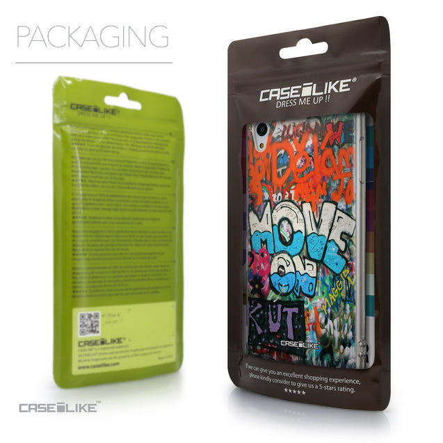 Packaging - CASEiLIKE Sony Xperia Z3 Plus back cover Graffiti 2722