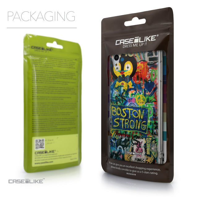 Packaging - CASEiLIKE Sony Xperia Z3 Plus back cover Graffiti 2723