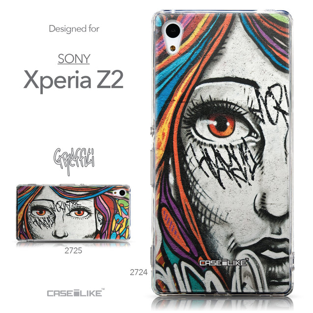 Collection - CASEiLIKE Sony Xperia Z3 Plus back cover Graffiti Girl 2724