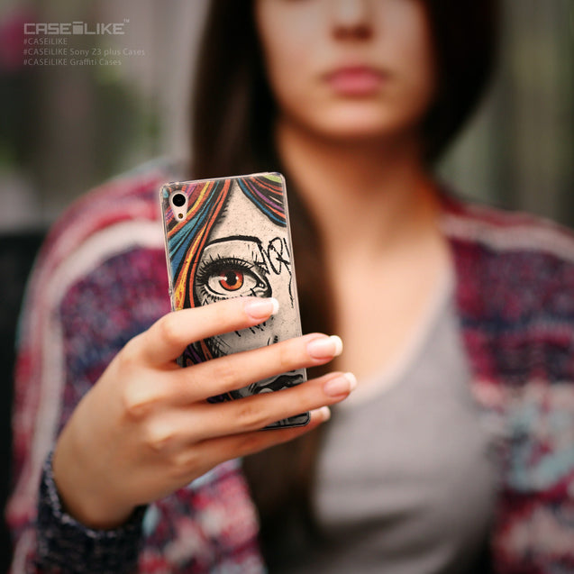 Share - CASEiLIKE Sony Xperia Z3 Plus back cover Graffiti Girl 2724