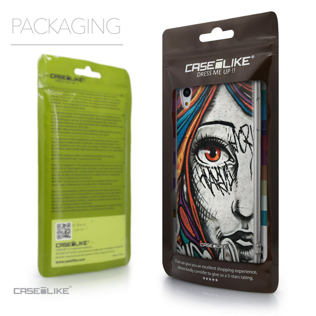 Packaging - CASEiLIKE Sony Xperia Z3 Plus back cover Graffiti Girl 2724