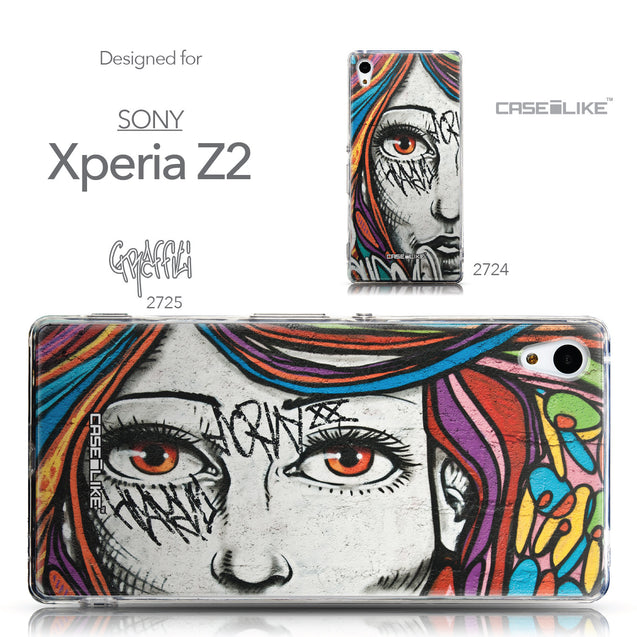 Collection - CASEiLIKE Sony Xperia Z3 Plus back cover Graffiti Girl 2725