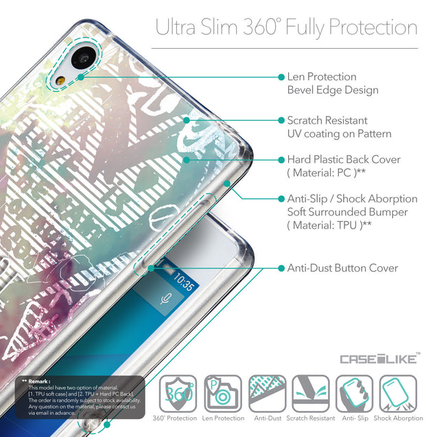 Details in English - CASEiLIKE Sony Xperia Z3 Plus back cover Graffiti 2726
