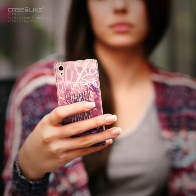 Share - CASEiLIKE Sony Xperia Z3 Plus back cover Graffiti 2727