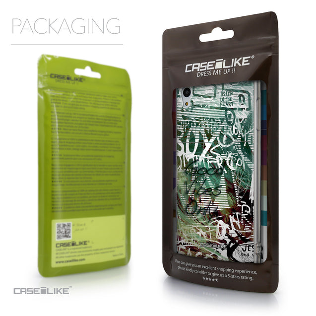 Packaging - CASEiLIKE Sony Xperia Z3 Plus back cover Graffiti 2728